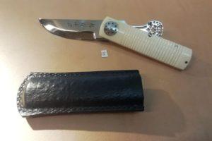 Couteau de poche Yaku Saku os de chameau #5