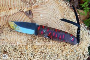 Couteau de poche Citadel Chantha banksia rouge
