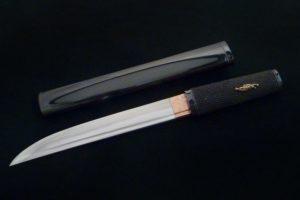 Japanese Knife Citadel Aikuchi damask black