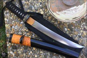 Japanese Knife Citadel Tanto damascus