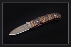 Pocket Knife Citadel Coubi mammoth tooth damascus