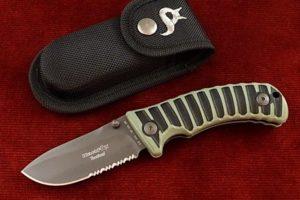 Pocket Knife Fox Blackfox titanium green 130-GR
