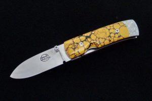 Pocket Knife Citadel Stavanger stone damascus