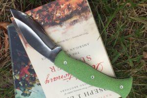 Couteau de poche Citadel Kukri lock galuchat vert