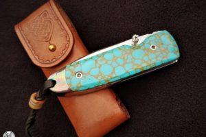 Couteau de poche Citadel Monterey turquoise