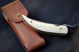 Citadel luxury leather pouch for knife medium size