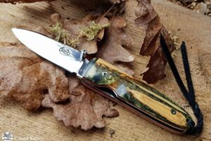 Pocket Knife Citadel Monterey Stabilized Oldbox Wood