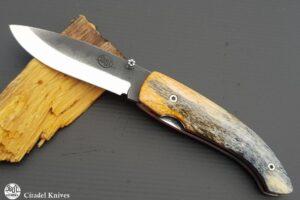Pocket Knife Citadel Roman Stabilized Camel bone