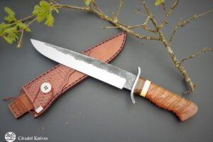 """Citadel Hunting Knife """"Pioneer"""" Rosewood Beige"""