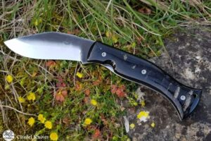 Citadel Kukri Lock Horn Smooth Folding Knife
