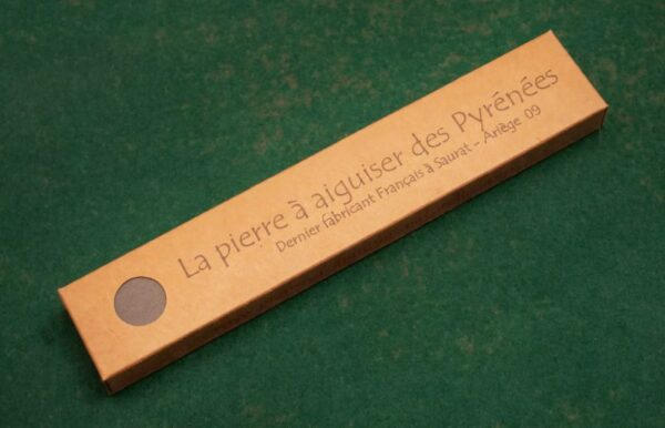packaged sharpening stone with leather