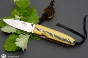 "Citadel ""Monterey"" stabilzed Old box wood- Folding Knife"