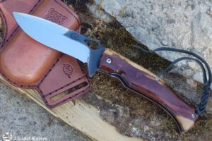 "Citadel ""Deimos"" Art Chomreak and Leather Sheath- Folding Knife"