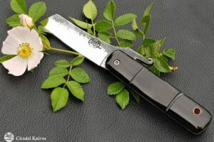 "Citadel ""Higonokami Wild Rose""- Friction Folding Knife."