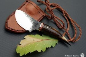 """Citadel """"Papoose"""" Cow Horn- Fixed Blade Knife"""
