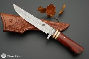 """Citadel """"Grand Trapper Damascus""""- fixed Blade Knife"""
