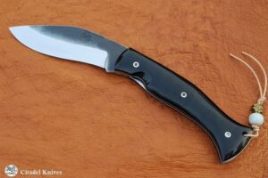 "Citadel ""Kukri Lock Horn Smooth""- Folding Knife"