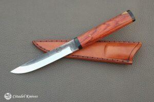 "Citadel ""Steak Knife With Leather Sheath""- Fixed Blade Knife."