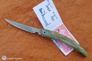 "Citadel ""Trey Tui Blue Beech""- Folding Knife."