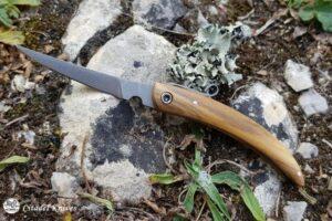 """Citadel """"Trey Tui Birchwood""""- Folding Knife."""